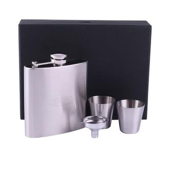 Hip flask with cups